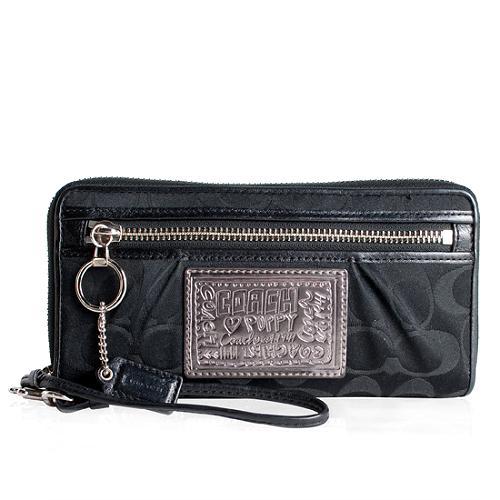Coach Poppy Op Art Zip Around Wallet