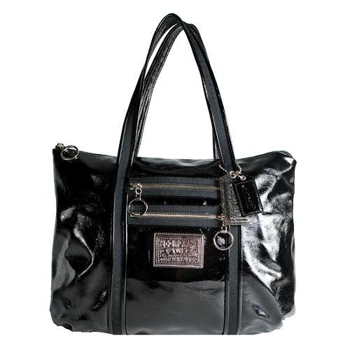 Coach Poppy Patent Glam Shopper Tote