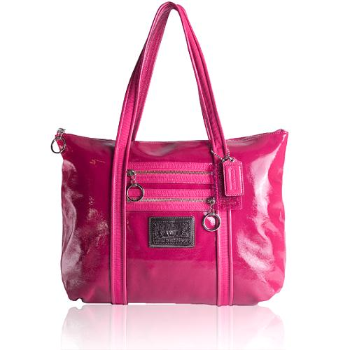 Coach Poppy Patent Leather Glam Tote