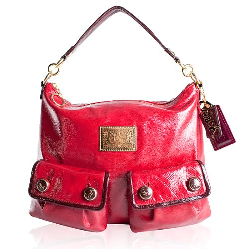 Coach Poppy Patent Swing Hobo Handbag