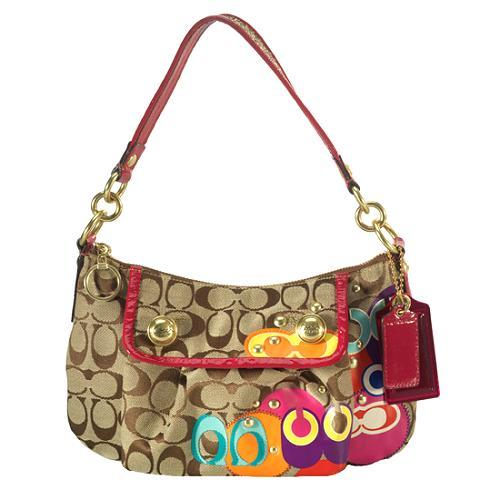 Coach Poppy Pop C Applique Groovy Shoulder Handbag