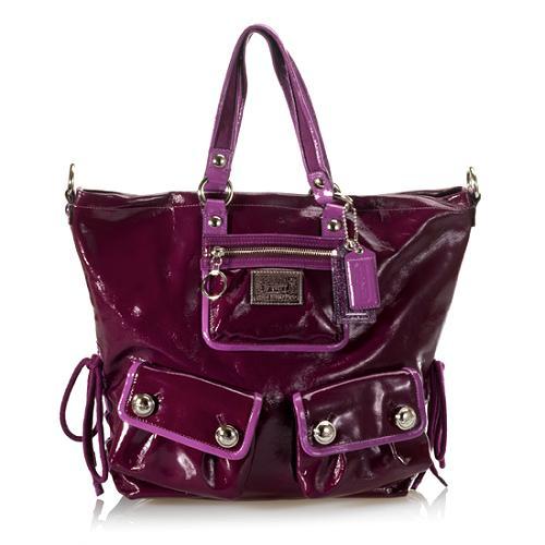 Coach Poppy Spotlight Patent Leather Shoulder Handbag