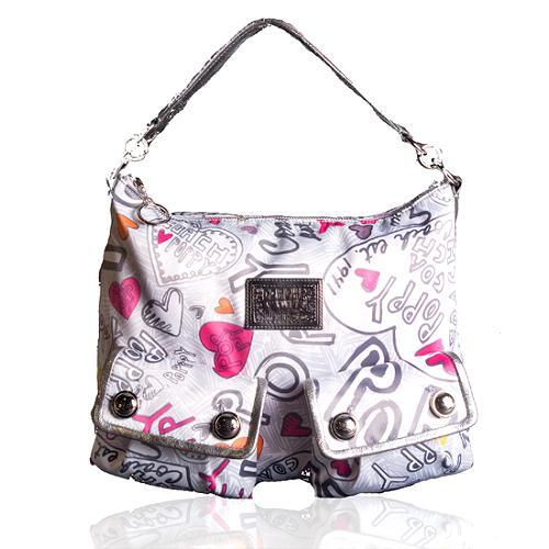 Coach Poppy Swing Graffiti Pocket Hobo Handbag