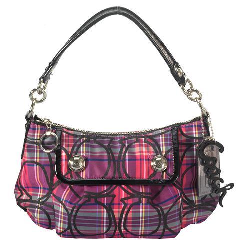 Coach Poppy Tartan Groovy Shoulder Handbag