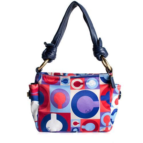 Coach Resort Op Art Print Shoulder Handbag