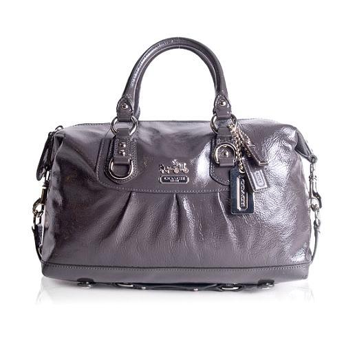 Coach Sabrina Patent Leather Satchel Handbag