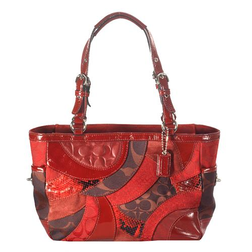 Coach Signature Circle Patchwork Gallery Tote