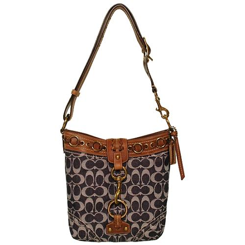 Coach Signature Denim Medium Duffel Handbag