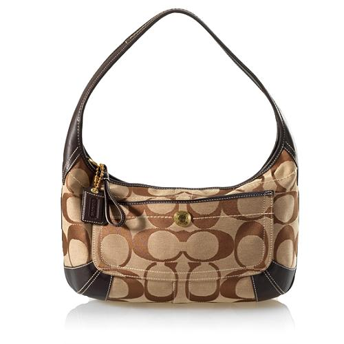 Coach Signature Ergo Hobo Handbag