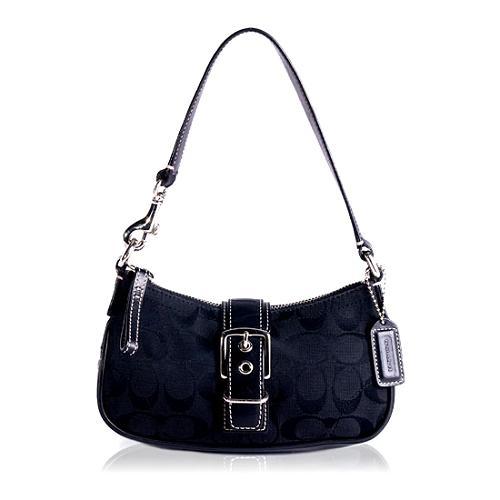 Coach Signature Flap Demi Shoulder Handbag