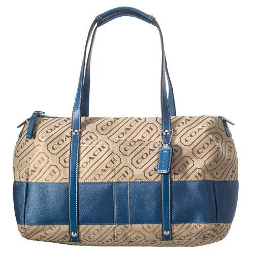 Coach Signature Lozenge Satchel Handbag