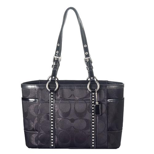 Coach Signature Lurex Studded Gallery Tote