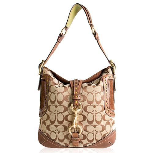 Coach Signature Perforated Hobo Handbag - FINAL SALE