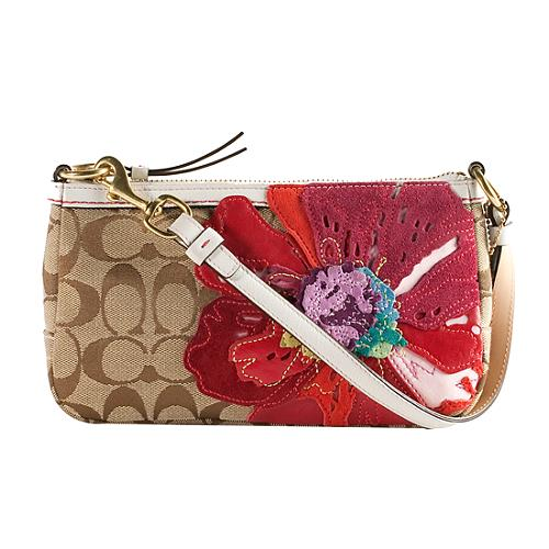 Coach Signature Poppy Flower Demi Shoulder Handbag