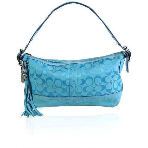 Coach Signature Print East/West Duffel Shoulder Handbag