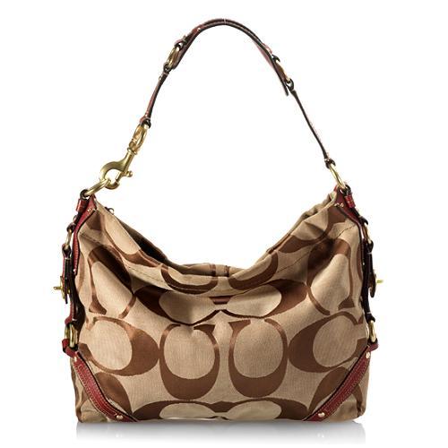 Coach Signature Slim Carly Hobo Handbag