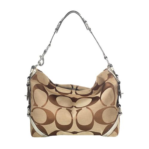 Coach Signature Slim Carly Hobo Handbag