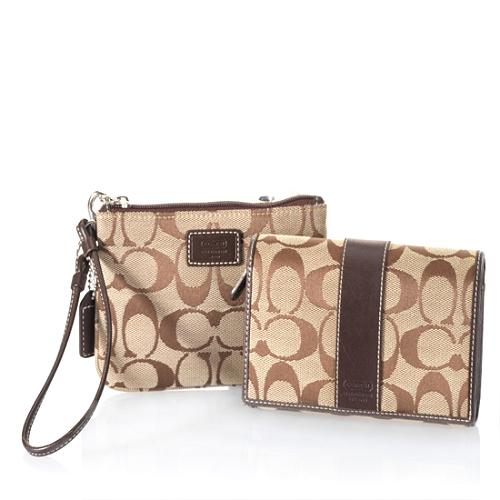 Coach Signature Wallet and Wristlet