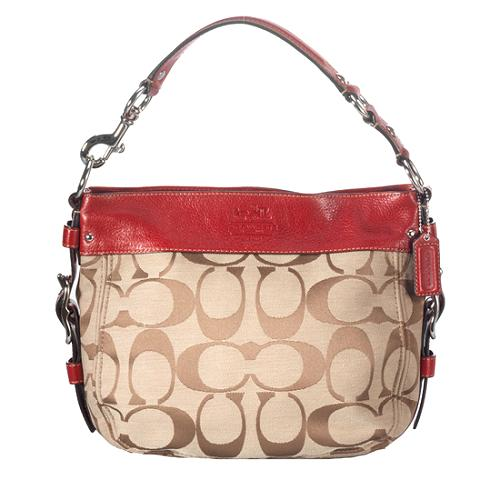 Coach Signature Zoe Medium Hobo Handbag
