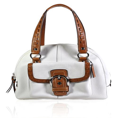 Coach Soho Domed Pebbled Leather Satchel Handbag