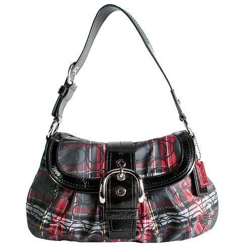 Coach Soho Flap Tartan Plaid Shoulder Handbag