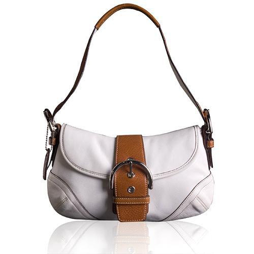 Coach Soho Leather Flap Hobo Handbag