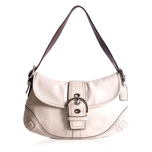 Coach Soho Leather Flap Large Shoulder Handbag