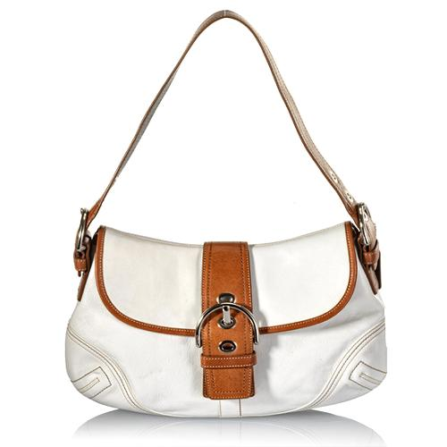 Coach Soho Leather Flap Large Shoulder Handbag