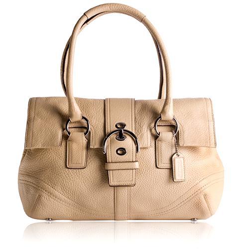 Coach Soho Leather Flap Satchel Handbag