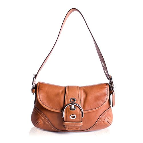 Coach Soho Leather Flap Shoulder Handbag