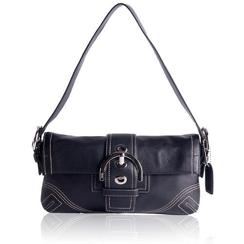 Coach Soho Leather Flap Shoulder Handbag