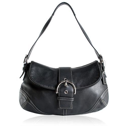 Coach Soho Leather Large Flap Shoulder Handbag