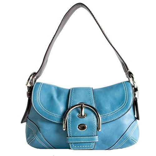 Coach Soho Leather Small Flap Shoulder Handbag