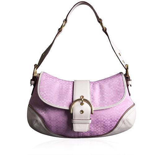 Coach Soho Mini Signature Flap Shoulder Handbag