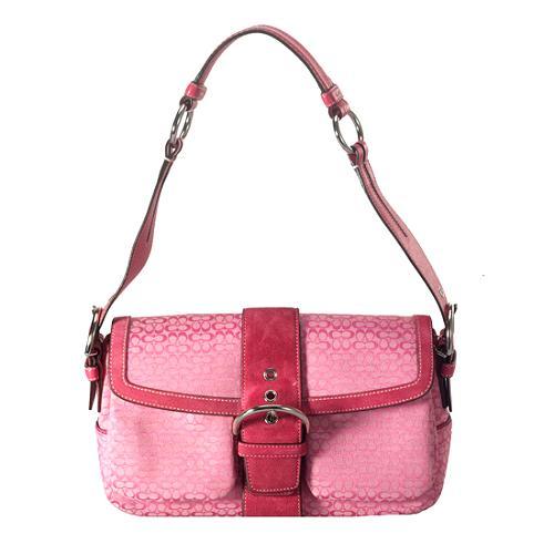 Coach Soho Mini Signature Pocket Flap Shoulder Handbag