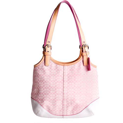 Coach Soho Mini Signature Slim Hobo Handbag