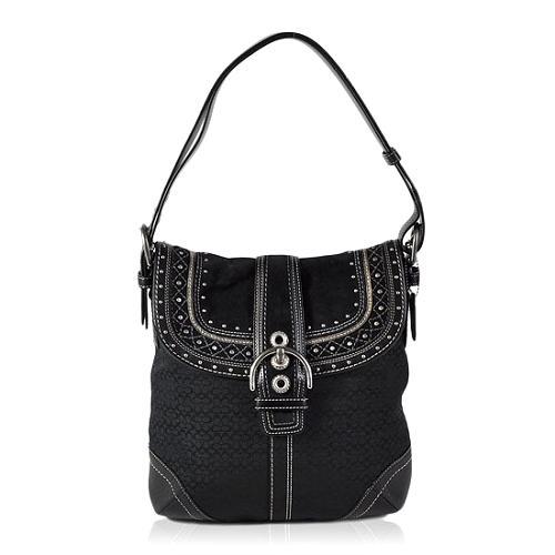 Coach Soho Mini Signature Stitched Duffle Handbag