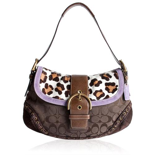 Coach Soho Ocelot Flap Shoulder Handbag