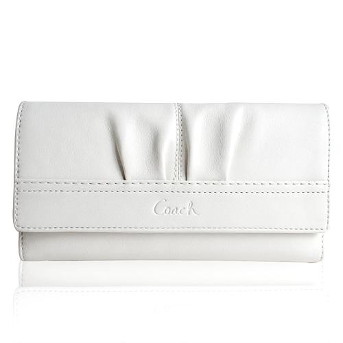 Coach Soho Pleated Leather Checkbook Wallet