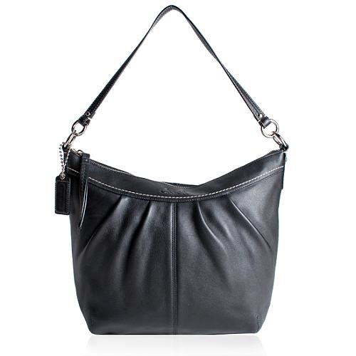 Coach Soho Pleated Leather Crossbody Shoulder Handbag