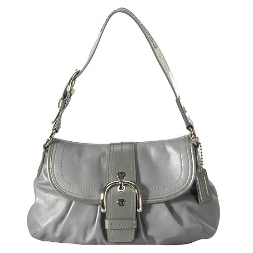 Coach Soho Pleated Leather Flap Shoulder Handbag