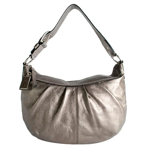 Coach Soho Pleated Leather Hobo Handbag