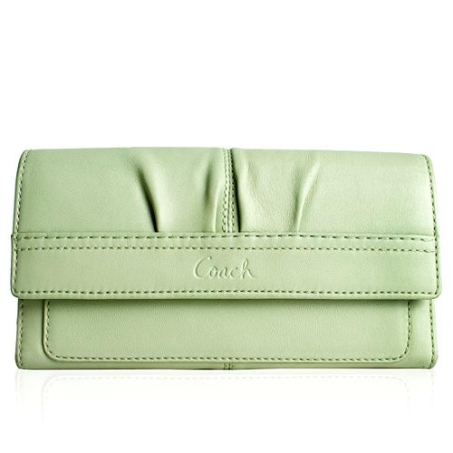 Coach Soho Pleated Leather Slim Envelope Wallet