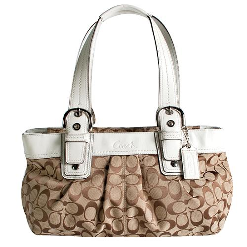 Coach Soho Pleated Signature Satchel Handbag