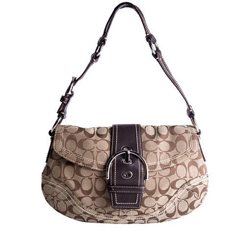 Coach Soho Signature Flap Hobo Handbag