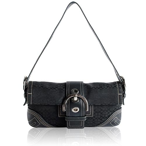Coach Soho Signature Flap Shoulder Handbag