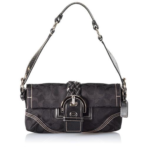 Coach Soho Signature Flap Small Shoulder Handbag