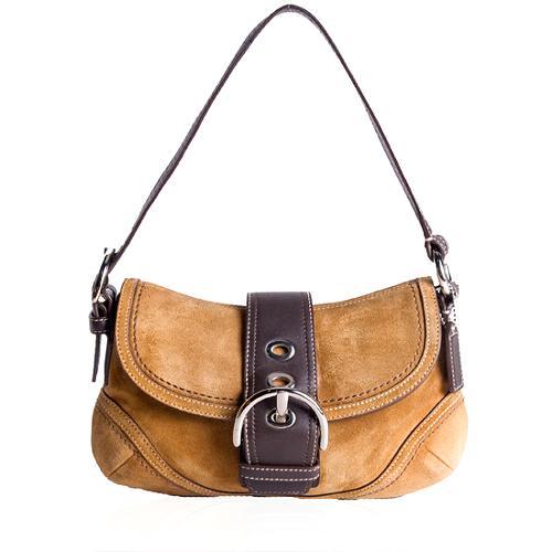 Coach Soho Suede Hobo Flap Handbag