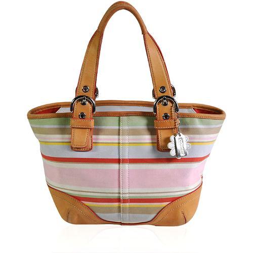 Coach Stripe Shoulder Handbag