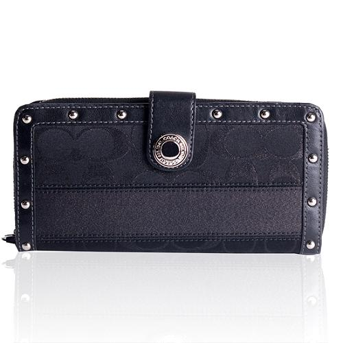 Coach Studded Signature Wallet